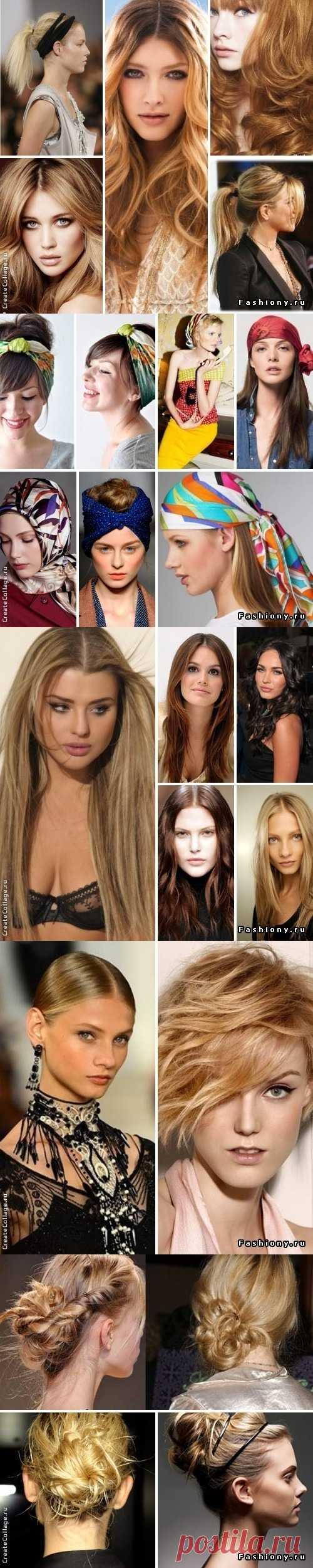 Los peinados a la moda la primavera-verano 2013
