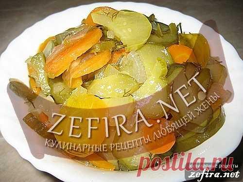 Салат из огурцов Зимний – рецепт заготовки.