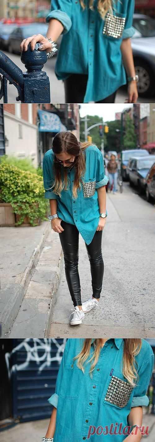 Интересный карман / Рубашки / Модный сайт о стильной переделке одежды и интерьера