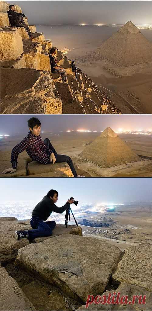 Редкие фото с вершины пирамиды Гизы, откуда запрещено снимать   Зашибись