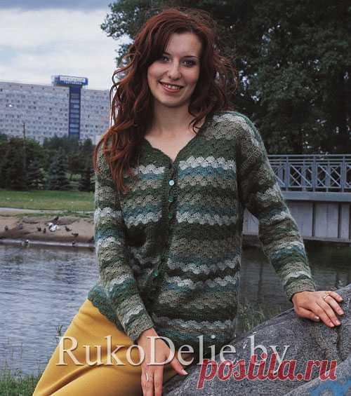 Вязаный крючком многоцветный жакет :: Жакеты и пальто :: Женская одежда :: Вязание крючком/Women's crocheted jackets, coats :: RukoDelie.by