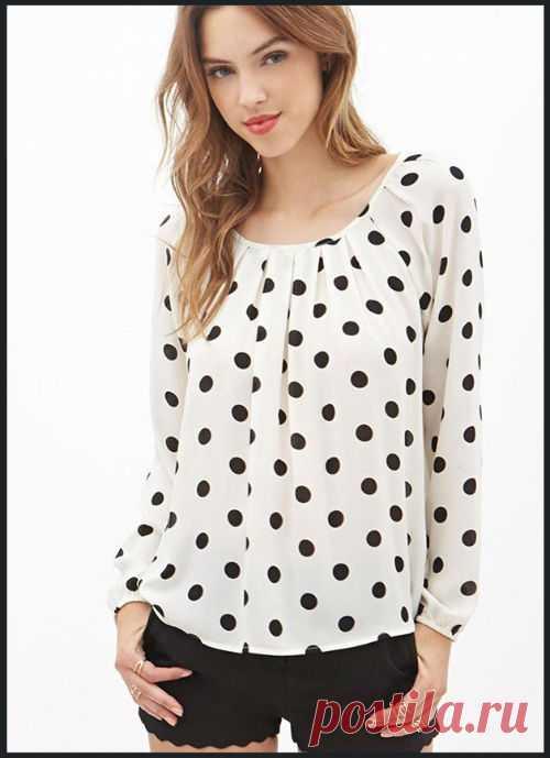 Блузка в горошек: фото, с чем носить. Женский интернет-журнал Delafe.ru