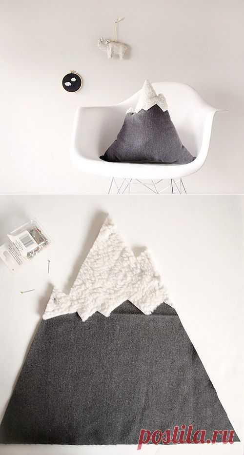 Подушка для любителей гор / Креатив / Модный сайт о стильной переделке одежды и интерьера