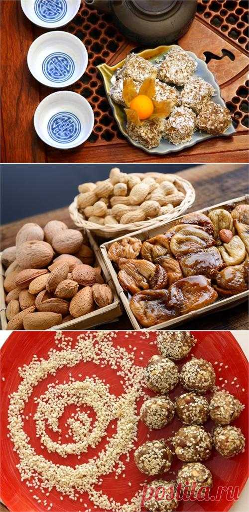 We cook useful candies from fruit and nuts!