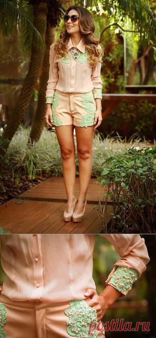 Костюм с декором / Нарядно / Модный сайт о стильной переделке одежды и интерьера
