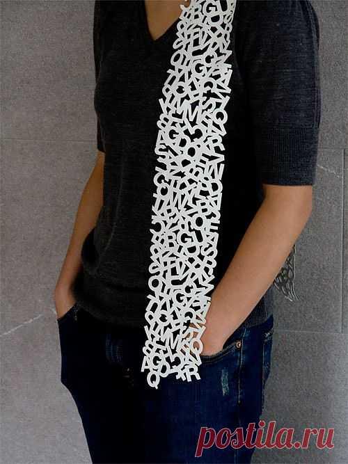 Буквенный шарф / Шарфы / Модный сайт о стильной переделке одежды и интерьера