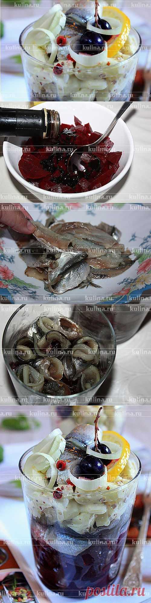 Салат с пряной килькой, яблоками и свеклой – рецепт приготовления с фото от Kulina.Ru