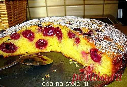 Пирог с вишней | Еда на столе