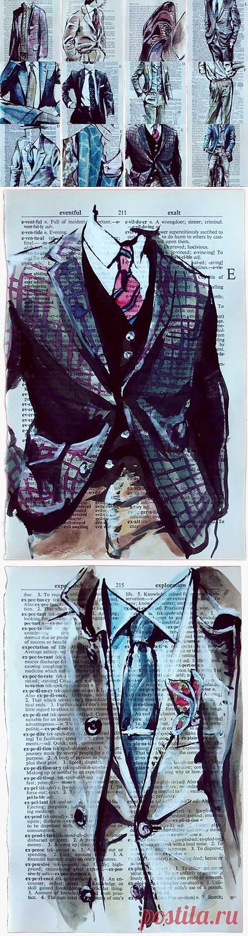 Лукбук на книжных страницах (Diy) Читай город / Арт-объекты / Модный сайт о стильной переделке одежды и интерьера