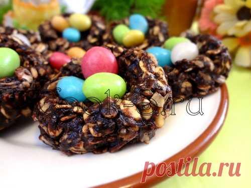 Пасхальное печенье «Гнезда» - Пошаговый рецепт с фото | Десерты