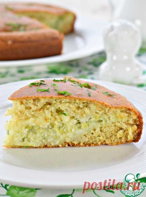 Быстрый пирог с молодой капустой - кулинарный рецепт