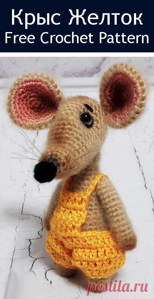 PDF Крыс Желток. FREE amigurumi crochet pattern. Бесплатная схема и описание вязания амигуруми крючком. Игрушки своими руками! Крыса, rat, rata, rato, ratte, szczur, szczur, mouse, мышка, ratón, maus, souris, mysz, myši. #амигуруми #amigurumi #amigurumidoll #amigurumipattern #freepattern #freecrochetpatterns #crochetpattern #crochetdoll #crochettutorial #patternsforcrochet #вязание #вязаниекрючком #handmadedoll #рукоделие #ручнаяработа #pattern #tutorial #häkeln #amigurumis #diy #tutorialcrochet