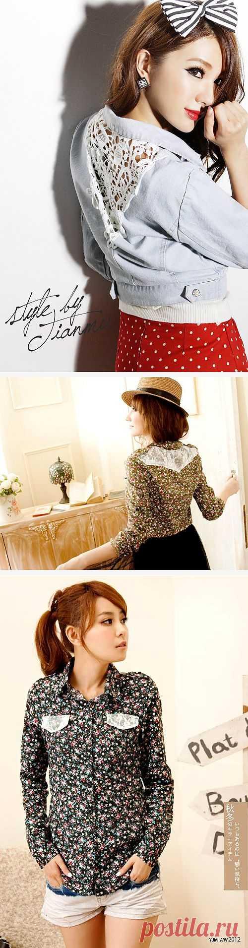 Кружевные детали / Кружево / Модный сайт о стильной переделке одежды и интерьера