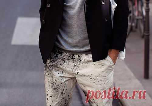 """""""Забрызганые"""" брюки / Пачкаем / Модный сайт о стильной переделке одежды и интерьера"""