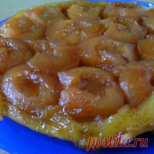 Пирог перевертыш (тарт татен) яблочный. Подавайте с мороженым - райское наслаждение!