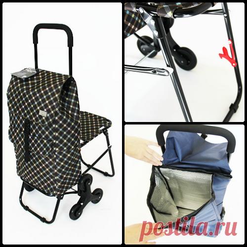 be26af11854c Сумка тележка на 6 колесах со стульчиком Cool: купить магазине на диване  Телемагазин Санкт-