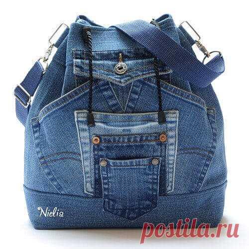 Как сшить рюкзак из старых джинсов своими руками