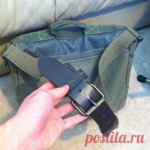 Удлинить ремень для сумки / Сумки, клатчи, чемоданы / Модный сайт о стильной переделке одежды и интерьера
