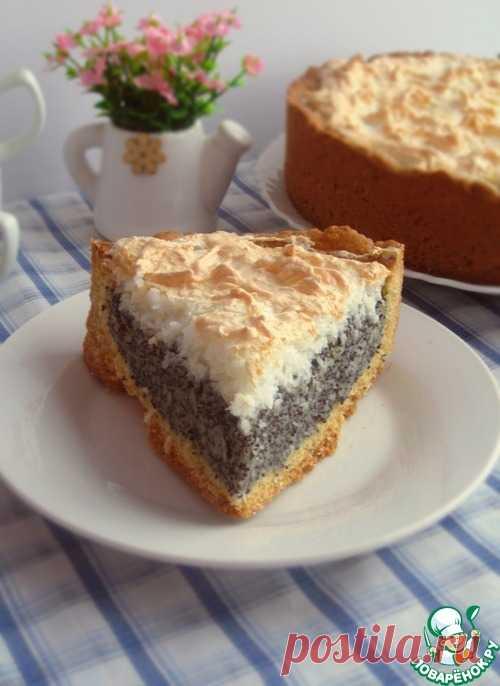 Маковый пирог с кокосовым безе – кулинарный рецепт