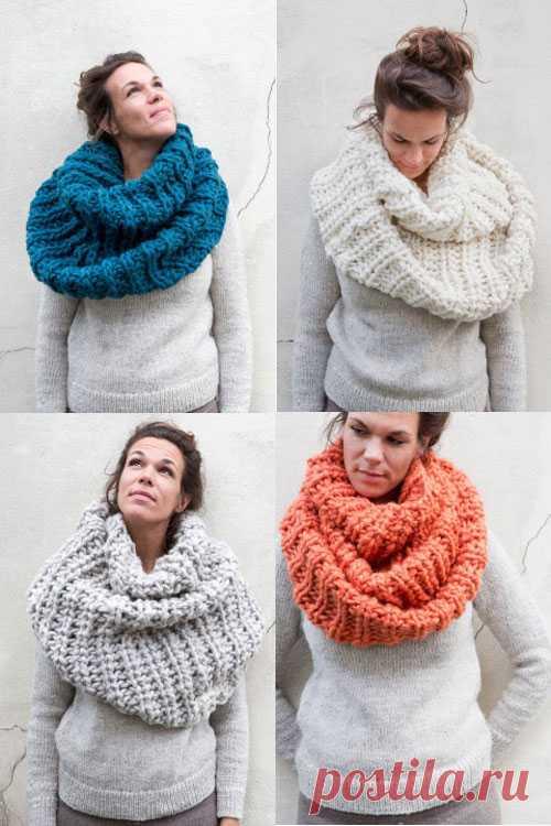 Идея оригинального шарфа.