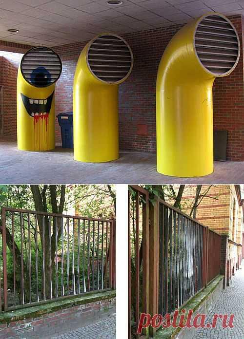 Два креативных граффити / Городская среда (граффити, снеговики, ets) / Модный сайт о стильной переделке одежды и интерьера