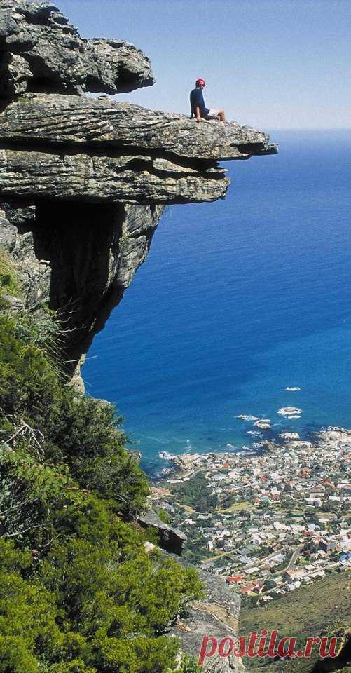 Столовая гора. С неё Кейптаун как на ладони. ЮАР