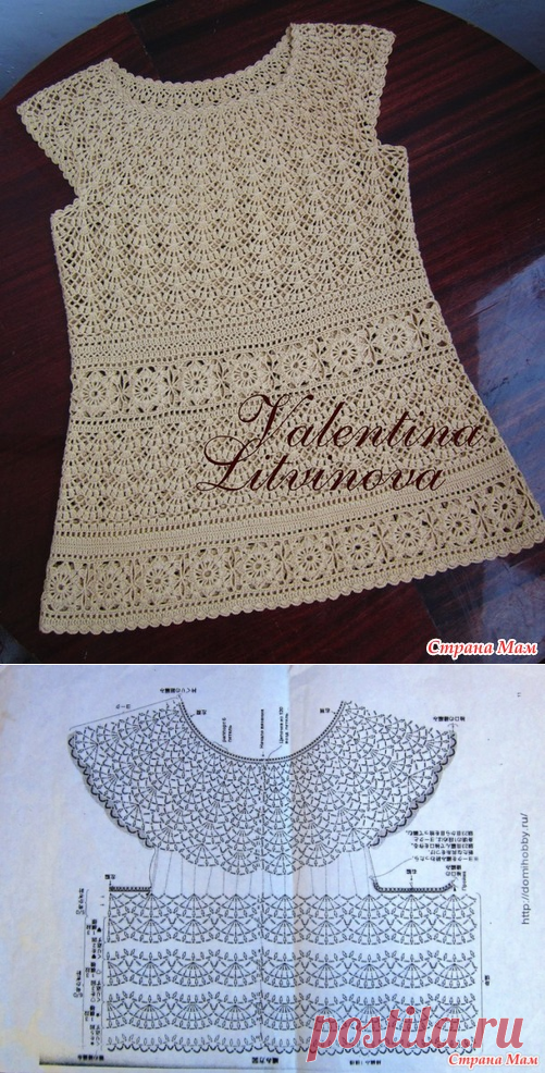Tunic for mother and a dress for the daughter - Knitting - the Country of Mothers