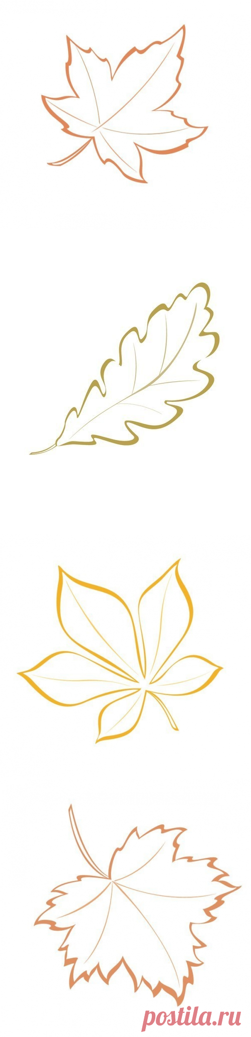 Templates of autumn leaves for creativity