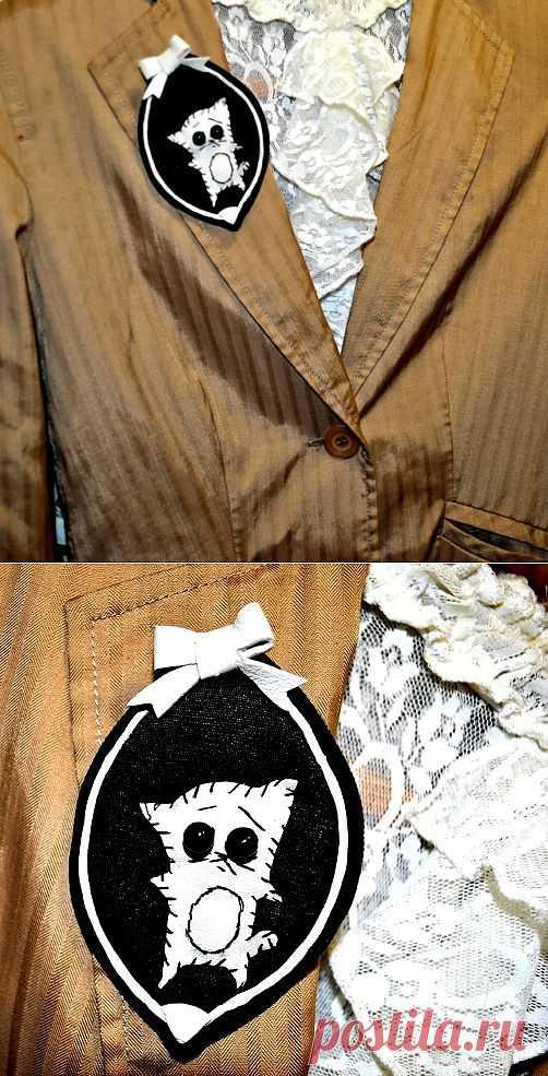 Из подручного хлама - брошь / Аксессуары (не украшения) / Модный сайт о стильной переделке одежды и интерьера