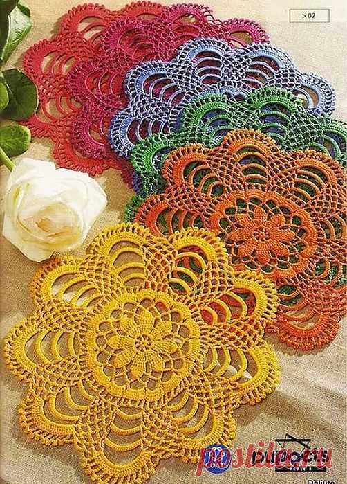 multi-colored napkins