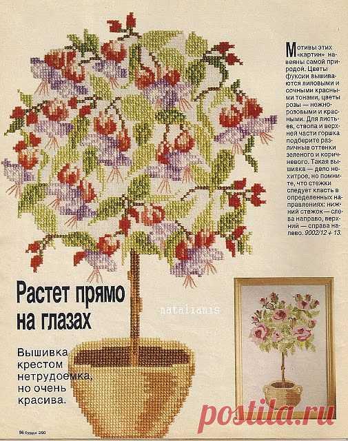 Всем, кто вяжет, дарю старые идеи для новых работ - Вышивка крестом \ цветы