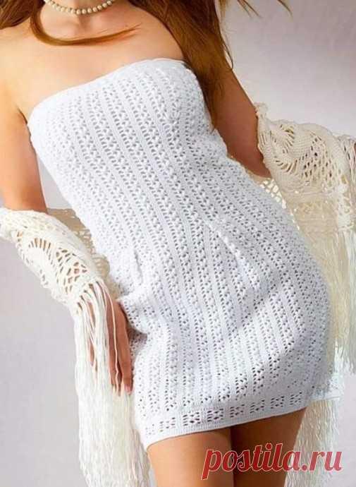 Красивое вязаное платье из категории Интересные идеи – Вязаные идеи, идеи для вязания
