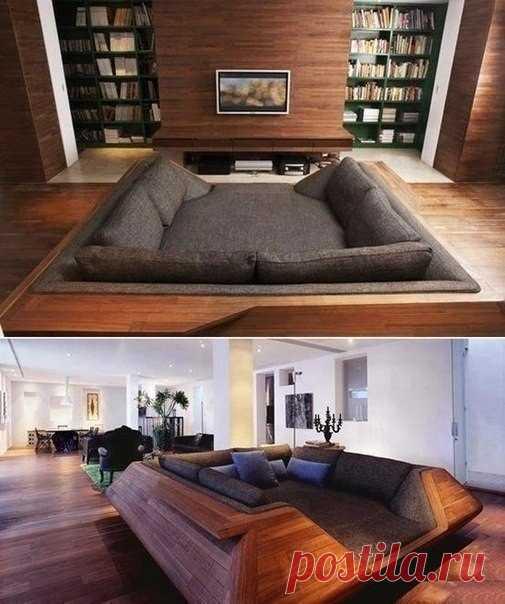 Отличный диван станет центральным элементом интерьера