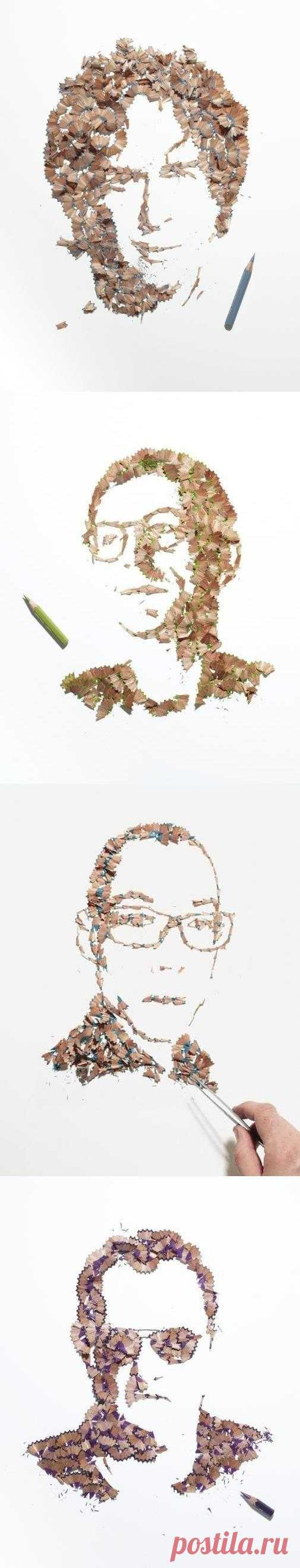Талантливый художник Кайл Бин создает портреты с помощью банального карандаша, но при этом использует его крайне необычным способом…
