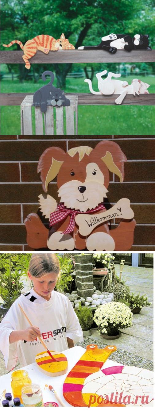 Поделки из дерева и фанеры для дачи - фото примеров