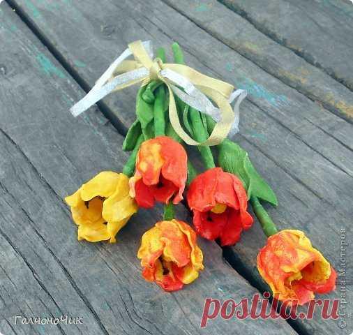 Тюльпаны из солёного теста — Сделай сам, идеи для творчества - DIY Ideas