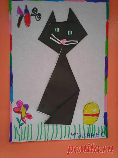 Детский мастер-класс «Мой любимый котик» (техника «оригами»). Воспитателям детских садов, школьным учителям и педагогам - Маам.ру