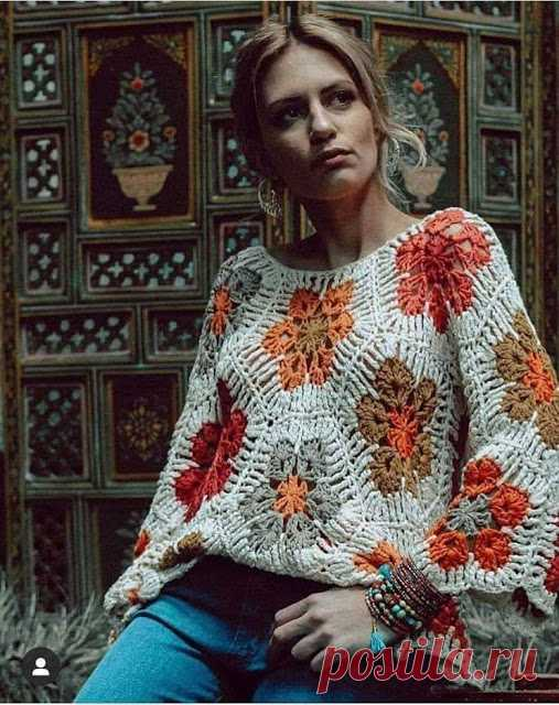 ergahandmade: Crochet Blouse with African flower +Diagrams + Video Tutorial