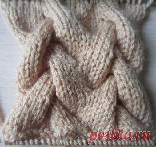 Схемы вязания объемных кос (жгутов) спицами, вязание на спицах.