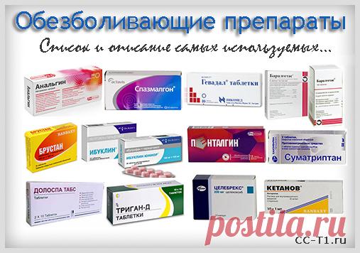 Обезболивающие препараты, анальгетики. Список эффективных лекарстве моё здоровье Постила
