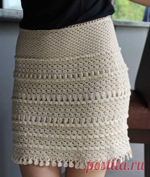 a385a926221 Коллекция летних юбок крючком. Схемы вязания летних юбок крючком ...