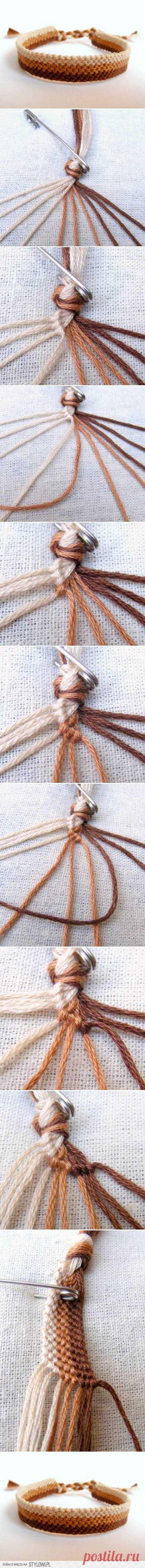 DIY Easy Weave Bracelet DIY Projects   UsefulDIY.com na Stylowi.pl