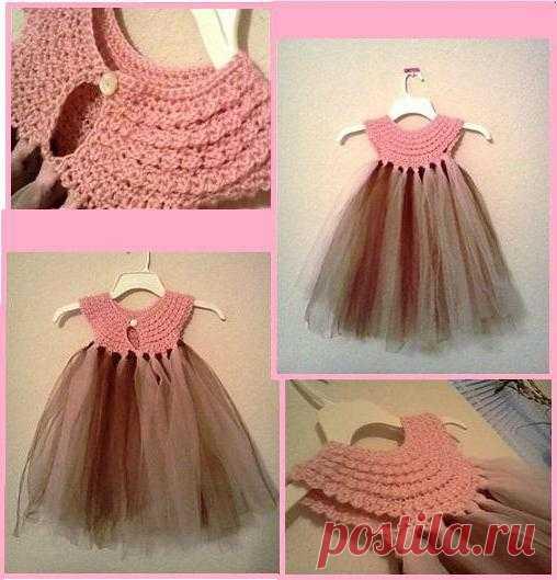 кокетка для детского платья крючком вязание детям постила