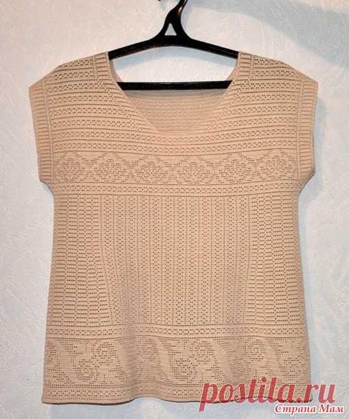 Топ. Филейное вязание.