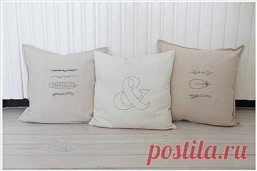 Вышивка на подушках / Подушки / Модный сайт о стильной переделке одежды и интерьера