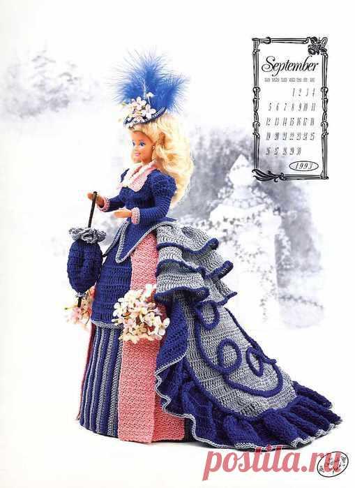 Красивое платье_для куклы крючком.