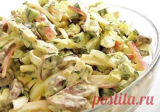 Салат с грибами и крабовыми палочками | ВКУСНО ПОЕДИМ!