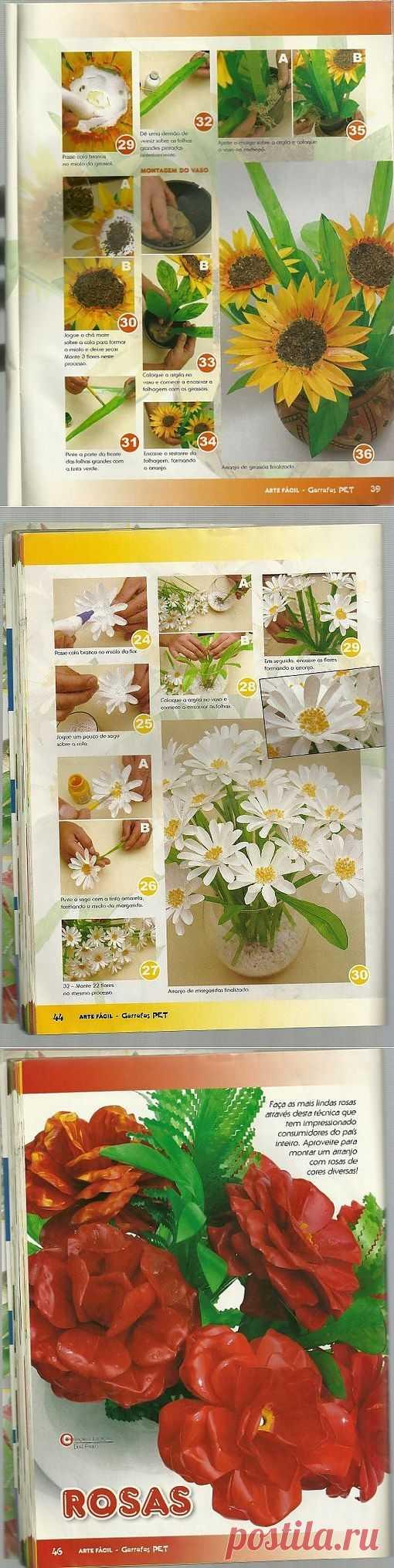 Подсолнухи,  ромашки и много других цветов.