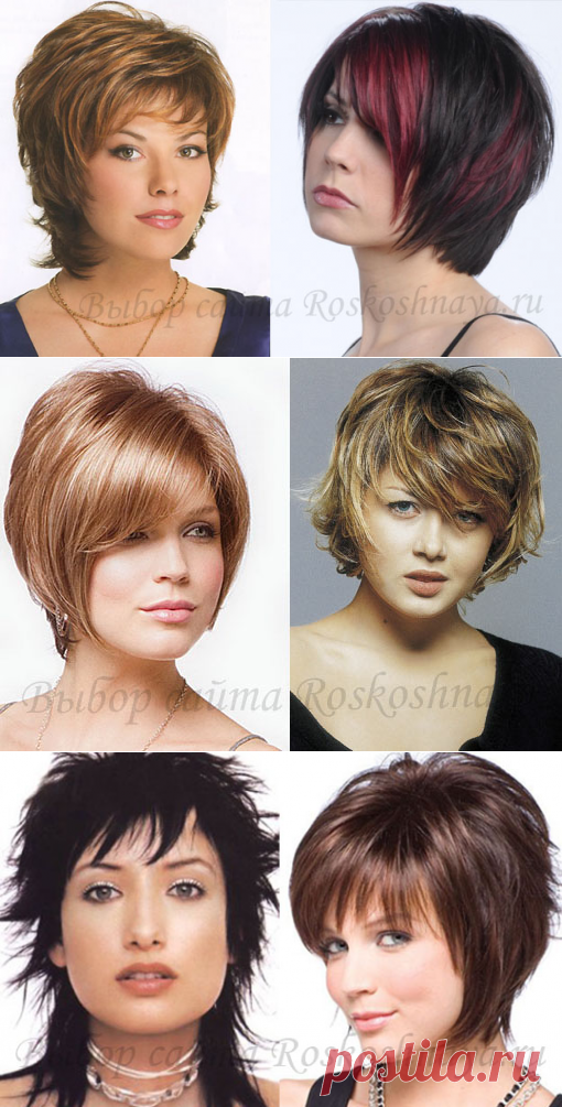 Los peinados para las fotos completas de los peinados a los cabellos cortos, medios y largos