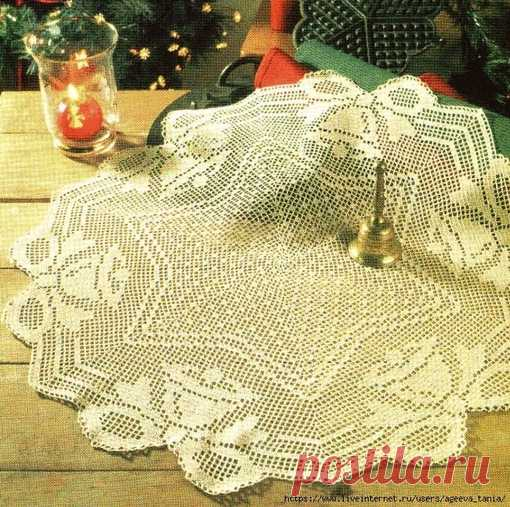 Салфетки в технике филейного вязания #вязание_крючком #вязание #схема_крючком #вяжу_крючком